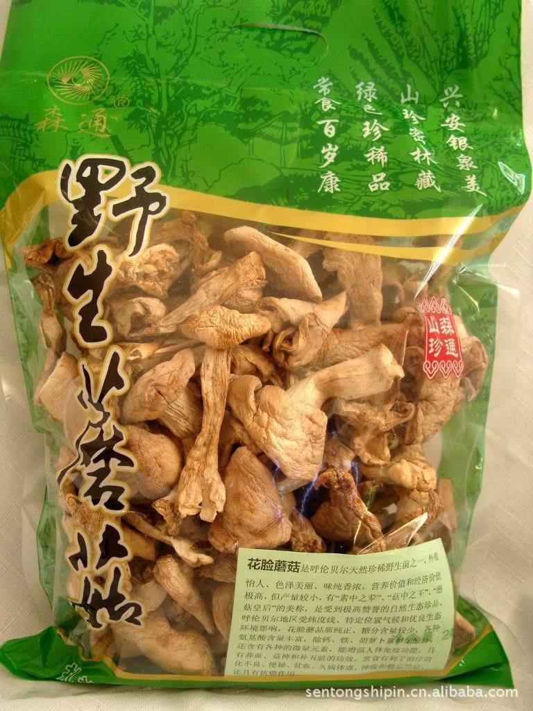 食用菌之王,紫花脸蘑菇,大兴安岭野生原生态产品